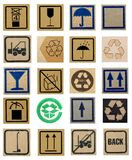 Carton symbols Royalty Free Stock Images