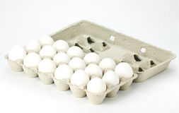 Carton of white eggs Royalty Free Stock Image