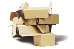 Cartone d'imballaggio scartato per riciclare Immagine Stock