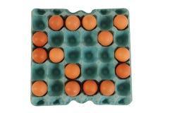 Cartone dell'uovo. Immagine Stock