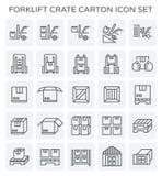 Cartone della cassa del carrello elevatore illustrazione di stock
