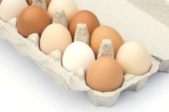 Cartone delle uova Fotografia Stock