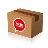 Cartone di consegna gratuita Immagine Stock