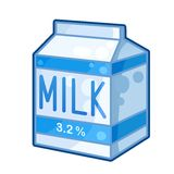 Cartone di latte Fotografie Stock Libere da Diritti