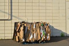 Cartone impacchettato per riciclare Fotografia Stock Libera da Diritti
