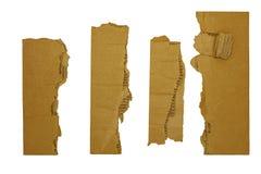 Cartone ondulato dei bordi dei confini Fotografia Stock Libera da Diritti