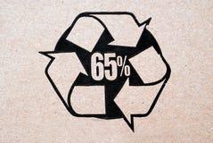 Cartone riciclato Immagine Stock