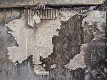 Cartone sul pavimento di legno Fotografie Stock