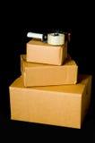 Cartons d'expédition ondulés Images stock