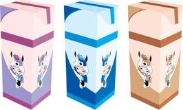Cartons de lait Photographie stock libre de droits
