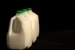 Cartons de lait Photos libres de droits