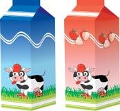Cartons de yaourt Photos libres de droits