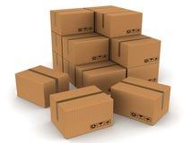 Cartons emballés de cadres illustration de vecteur