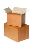 Cartons isolated on white Royalty Free Stock Photo