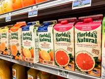 Cartons of juice Royalty Free Stock Image