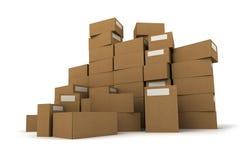 Cartons on a pile Royalty Free Stock Photos