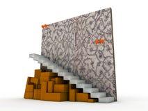 Cartons sous des escaliers Photo stock