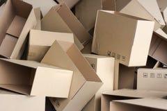 Cartons vides Photographie stock libre de droits