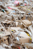 Cartons waiting to be picked up by the garbage trucks. Royalty Free Stock Images