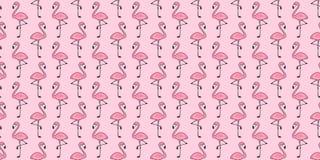 Cartoo isolado do papel de parede da repetição do fundo da telha do verão do pássaro dos flamingos do rosa do vetor do teste padr ilustração royalty free