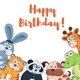 Cartoob birthday card Royalty Free Stock Photography