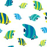 Seamless pattern with butterfly fish. Stock Photo