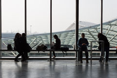 Cartoomics的人们2014年在米兰,意大利 免版税库存照片