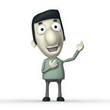Cartoon 3D character Royalty Free Stock Photography