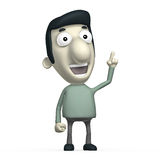 Cartoon 3D character Royalty Free Stock Images