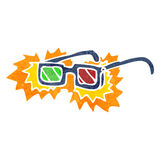 Cartoon 3D glasses Royalty Free Stock Images