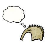 Cartoon aardvark. Retro cartoon with texture. Isolated on White Royalty Free Stock Photo