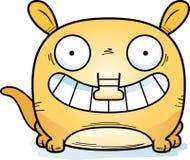 Cartoon Aardvark Smiling. A cartoon illustration of a little aardvark happy and smiling Royalty Free Stock Image