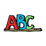 cartoon ABC letters Royalty Free Stock Photography