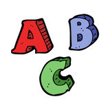 cartoon ABC letters Royalty Free Stock Photos