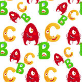 Cartoon ABC seamless pattern Stock Photography
