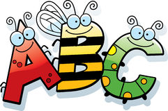 Cartoon ABC Text. A cartoon illustration of the text ABC with an insect theme Stock Photography