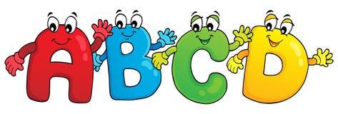 Cartoon ABCD letters theme 3 stock illustration
