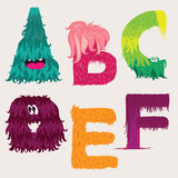 Cartoon ABCDEF letters characters Royalty Free Stock Image