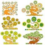 Cartoon abstract tree Royalty Free Stock Image