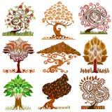 Cartoon abstract tree Stock Image