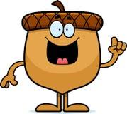 Cartoon Acorn Idea. A cartoon illustration of an acorn with an idea Royalty Free Stock Photo