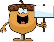 Cartoon Acorn Sign Stock Image