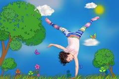 Cartoon activities Stock Images