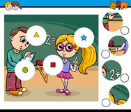 Cartoon activity for children Stock Images