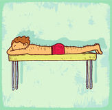 Cartoon acupuncture illustration, vector icon Royalty Free Stock Photos