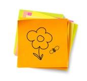 Cartoon adhesive note Stock Image