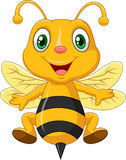 Cartoon adorable bees Stock Images