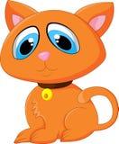 Cartoon adorable cat posing Stock Photography