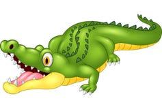 Cartoon adorable crocodile royalty free illustration
