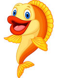 Cartoon adorable goldfish Stock Images